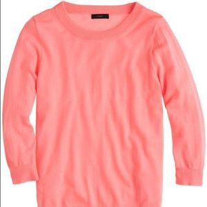 Jcrew wool Tippi sweater coral bright pink XS